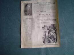 1936 Marcel VAN HOUTTE En Alfons JANSSENS Fietsen Mygale Lijst Van De Ingeschreven Renners Juniores TIELT - Sports D'hiver