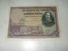 TRES BEAU BILLET 1928 - 50 Pesetas
