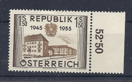 140016693  AUSTRIA  YVERT  Nº  848  */MH - 1945-.... 2nd Republic
