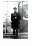 Photo Militaria - Gendarme De La Garde Personnelle Du Maréchal Pétain - Vichy - Francisque Sur Col Et Ceinturon 1940 Env - War 1939-45