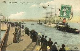 Le Havre (76) - La Jetée Entrée D'un Trois-mâts - Animé - Le Havre