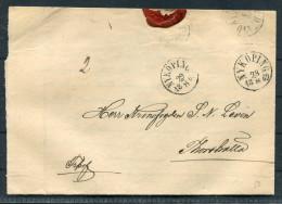 1869 Sweden Nykoping Fribrief Entire Freepost
