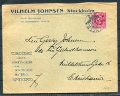 1903 Sweden Norway Vilhelm Johnsen Stockholm Boktryckeri Bokbinderi Cover - Kristiania