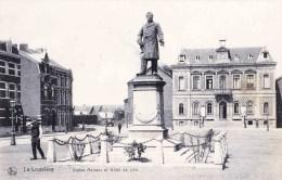 LA LOUVIERE - Statue Mairaux Et Hôtel De Ville - La Louvière