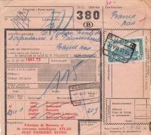 Belgien 30 F Auf Paketschein 1951 - Belgien