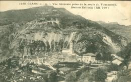 06 - Clans, Vue Générale Prise De La Route Du Tournairet - Autres Communes
