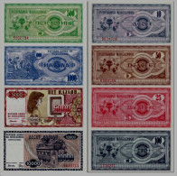 MACEDONIA - Set 10, 25, 50, 100, 500, 1000, 5000, 10000 Denari 1992 UNC - Macedonia