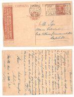 INTERO POSTALE PUBBLICITARIO NOI SOPRAVVISSUTI 30c - ROMA PER NAPOLI  1924 - Otros