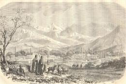 ANATOLIA - TARSUS GENERAL VIEW - Engraving From 1862 - Prints & Engravings