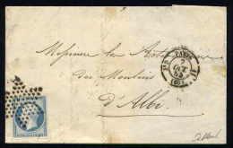 Lettre De Paris Pour Albi 7 Octobre 1854 - 1849-1876: Période Classique