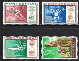 Montserrat SG200-203 1968 Olympic Games, Mexico Set 4v Complete Unmounted Mint - Montserrat