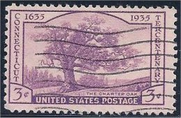 USA / États-Unis   1935  #  772  ( Connecticut Tercentenary ) - Oblitérés