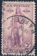 USA / États-Unis   1936  #  777   ( Rhode Island  Tercentenary) - Stati Uniti