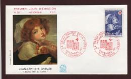 1700  De  1971  - 1er Jour  à   TOURNUS  (71)  Le  11-12-71  -  Croix - Rouge  Française - FDC