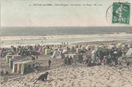 SOULAC SUR MER - 33 -   CPA COLORISEE Du Ponton Et De La Plage - BR 100 -  ENCH - - Soulac-sur-Mer