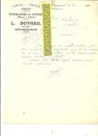 23 - Creuse - BOURGANEUF - Facture DUTHEIL - Faïences - Poteries - Verreries – 1933 - REF 135 - 1900 – 1949