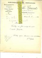 17 - Charente-maritime - MARANS - Facture GRASSET - Porcelaines - Cristaux - Poteries - Faïences – 1933 - REF 135 - France