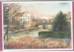 90.- DANJOUTIN .- Pont Sur La Savoureuse   ( Illustr. C ODILE 200 Ex. ) - Danjoutin