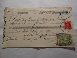COB 528 Oblitération De Bourlers(Hainaut) En 1944 + 2 Timbres Fiscaux De 0,20C - Revenue Stamps