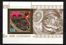 Comoro Islands - Comores 1975 Space Apollo-Soyuz Gold S/s MNH -scarce- - Space