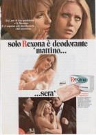 1970 - REXONA  - 1 Pubblicità Cm. 13 X 18 - Riviste