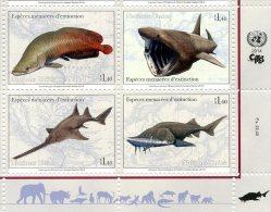 ONU Genève 2014 -  CITES Espèces En Danger Endangered Species ** MNH PF - Blocs-feuillets
