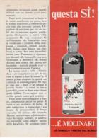 1970 -  SAMBUCA MOLINARI  -   1  Pubblicità Cm. 13 X 18 - Alcoolici
