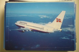 AIRLINES ISSUE / CARTE COMPAGNIE      BRAATHENS   B 737 700 - 1946-....: Ere Moderne
