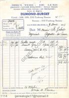 45 262 LES AYDES ORLEANS LOIRET 1933 Biscuiterie de Luxe Cuiller madeleine BISCUITS DUMOND BURGET Fbg Bannier � GOBERT