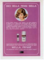 1970 - WELLA Privat  -   1  Pubblicità Cm. 13,5 X 18,5 - Riviste