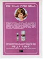 1970 - WELLA Privat  -   1  Pubblicità Cm. 13,5 X 18,5 - Tijdschriften
