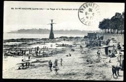 Cpa Du 44 Saint Nazaire  La Plage Et Le Monument Américain         AO48 - Saint Nazaire