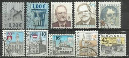 TEN AT A TIME - SLOVAKIA - LOT OF 10 DIFFERENT - USED OBLITERE GESTEMPELT USADO - Slovaquie