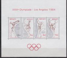 Monaco 1984 Olympic Games Los Angeles 4v ** Mnh (F2460) - Zomer 1984: Los Angeles