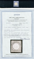 3418 - DEUTSCHES REICH - Mi.Nr.10 Mit Falz, Fotoattest, PORTOFREI - GERMANY-REICH, Hinged Stamp, Certified - Allemagne
