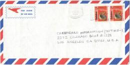 ZIMBABWE - 1994 - Air Mail - 2 X Mbira - Viaggiata Per Los Angeles, USA - Zimbabwe (1980-...)