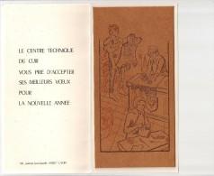 ATELIER  de tannerie du cuir. DESSIN�E  SUR DU CUIR . LE CENTRE TECHNIQUE DU CUIR . LYON . ANNEE 1979