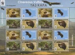 Kirgistan 2014 MNH** Mi. Nr. 785-788 Zd  Sheet  A   With Perforation WWF Black Vulture M - W.W.F.