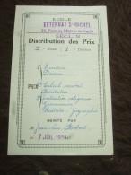 SECLIN - EXTERNAT St MICHEL - Distribution Des Prix - Jean-Luc ROBERT Le 7 Juillet 1956 - Diplômes & Bulletins Scolaires