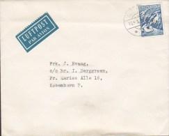 """Greenland Luftpost Par Avion Label 1961 Cover Brief Sagen """"Mother Of The Sea"""" """"Die Mutter Des Meeres"""" Stamp - Groenlandia"""