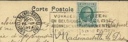 """Publicité  Voyage En Belgique Abonnements 5 Et 15 Jours + Obl Bruxelles (N°) 1924 Sur Cpa """"Bois De La Cambre + Animation - Publicités"""