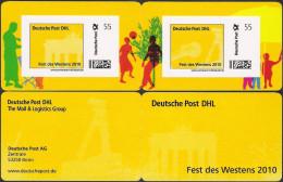 MARKE INDIVIDUELL PortoCard Deutsche Post DHL Fest Des Westens ** - Privées & Locales