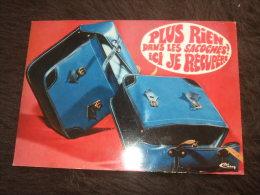 """Carte Postale Humoristique Sacoches, Vélo, Solex """"Plus Rien Dans Les Sacoches, Ici Je Récupère !!!"""" - Collections"""