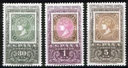 ESPAÑA 1965 - CENTENARIO DEL PRIMER SELLO DENTADO -  EDIFIL 1689/91  - YVERT 1346-1348 - Timbres Sur Timbres