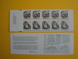 Suède 1502a Carnet C1502  **  Ours Hibou 1989  -   Booklet Scott 1724a  Animals  Bear , Owl Endangered Species - Carnets