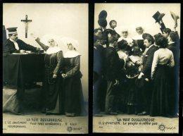 Religieuse - Bonne Sœur - SÉRIE Complète De 10 Cartes Photos (5 Scans)- La Voie Douloureuse - Autres
