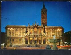 J420 Roma ( Rome, Italie ) Basilica Di S. Maria Maggiore - Auto Cars Voitures - Notturno Nocturne Nacht Night - Eglises
