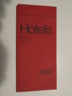 GRAND DUCHé DE LUXEMBOURG (M1414) HOTELS, AUBERGES, RESTAURANTS, PENSIONS (3 Vues) 1968 - Sports & Tourisme