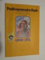 PUBLICITé (M1414) LOEWE OPTA (4 Vues) Petit Sommaire Flash 7 Tuyaux-flash De Professionnels De La Photographie - Printing & Stationeries