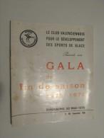 PUBLICITé (M1414) PATINOIRE DE VALENCIENNES (3 Vues) Gala De Fin De Saison 1975-1976 Eric Krol, Christine Gloire, Hockey - Sports & Tourisme